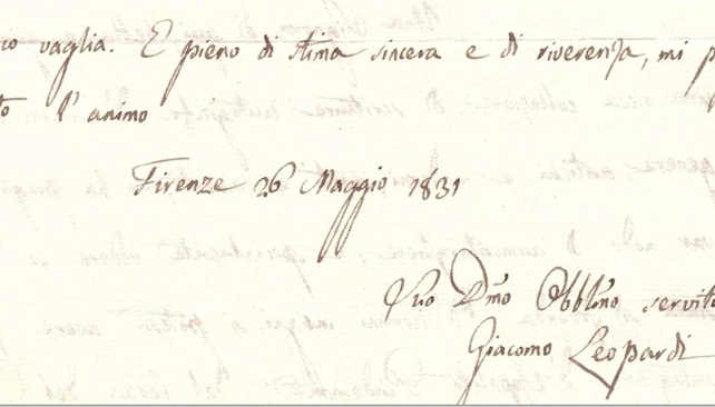 Lettere da Giacomo Leopardi